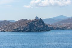Parikia bay and harbor - Cyclades island - Aegean sea - Paroikia (Parikia) Paros - Greece. View of Parikia bay and harbor - Cyclades island - Aegean sea stock photography