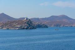 Parikia bay and harbor - Cyclades island - Aegean sea - Paroikia (Parikia) Paros - Greece. View of Parikia bay and harbor - Cyclades island - Aegean sea stock photo