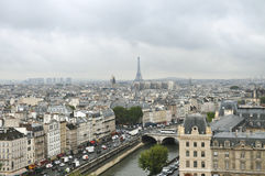 View of Paris. From the top of Notre Dame stock images