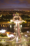 View of Paris. At night Royalty Free Stock Photos