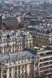 View of Paris from above. View of Paris from the Eiffel tower Stock Photography