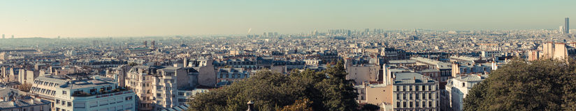 View of Paris from above Royalty Free Stock Images
