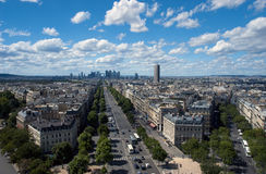 View of Paris from the Arc de Triomphe. France Royalty Free Stock Photography