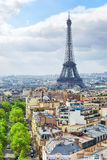 View of Paris. From the Arc de Triomphe. Paris Royalty Free Stock Photos