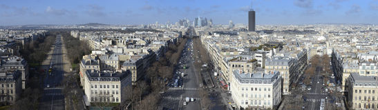 View of Paris. From Arc de triomphe Stock Photos