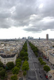 View of Paris from Arc de Triomphe Royalty Free Stock Images