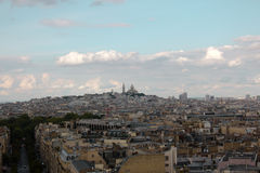 View of Paris from Arc de Triomphe Royalty Free Stock Image