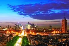 View of Paris. From the Arc de Triomphe.  Defans Area.Paris Stock Image