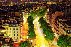 View of Paris from the Arc de Triomphe.  Defans Area.Paris. Fran Stock Image