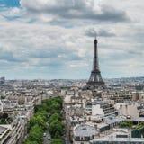View of Paris from the Arc de Triumph Stock Image