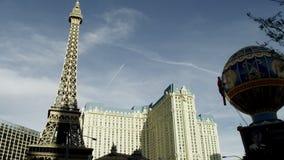 View on the Paris casino in Las Vegas stock footage