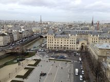 View of Paris. The city of Paris as we see it from the Tower of Notre Dame Stock Images