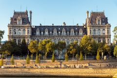 The Hotel de Ville in Paris, France royalty free stock photo