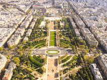 View of Paris from the Eiffel tower. View of Paris from different point of view Stock Photos