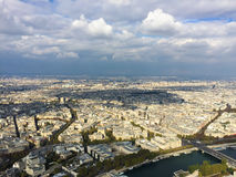 View of Paris from the Eiffel tower. View of Paris from different point of view Royalty Free Stock Photos