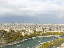 View of Paris from the Eiffel tower. View of Paris from different point of view Royalty Free Stock Photography