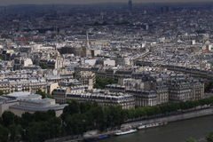 View of Paris. From Eifel Tower royalty free stock image