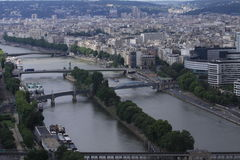 View of Paris. From Eifel Tower royalty free stock photography