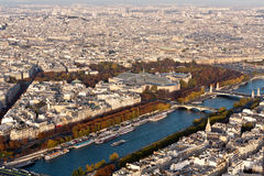 View of Paris from the Eiffel tower Royalty Free Stock Photography