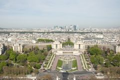 View of Paris from the Eiffel Tower Stock Photo