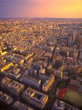 View on Paris from the Eiffel Tower. Stock Photos