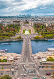 View of Paris from the Eiffel tower. Royalty Free Stock Image