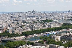 View on Paris from the Eiffel Tower Royalty Free Stock Images