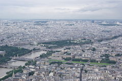 View of Paris. From Eiffel Tower Royalty Free Stock Photography