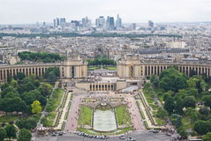 View of Paris. From Eiffel Tower Royalty Free Stock Photo