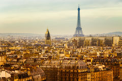 View of Paris with the Eiffel Tower Royalty Free Stock Photos