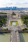 View of Paris from Eiffel tower. Royalty Free Stock Image