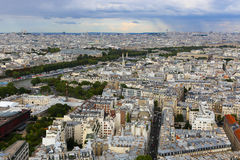 View of Paris from Eiffel tower. Royalty Free Stock Images