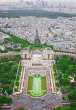 View of Paris from the Eiffel Tower Royalty Free Stock Image