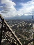View of Paris from the Eiffel Tower. View of the city skyline Royalty Free Stock Photo