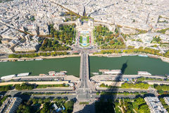 View of Paris from the Eiffel Tower Stock Images