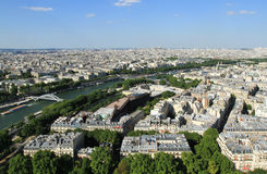 View of Paris. From Eiffel Tower. Paris, France Royalty Free Stock Photography