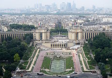 A View of Paris from the Eiffel Tower. A majestic view of French architecture Stock Image