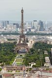 View of Paris with Eiffel Tower from Montparnasse building Royalty Free Stock Images