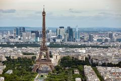 View of Paris with Eiffel Tower from Montparnasse building Royalty Free Stock Photography