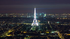 View of Paris and Eiffel Tower from Montparnasse stock footage