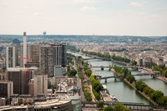 View of Paris from the Eiffel Tower Stock Image