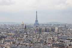 View on Paris with Eiffel tower Stock Image