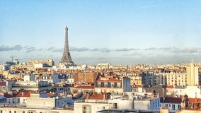 View of paris and the eiffel tower, Paris, France. Top view of the city of paris Royalty Free Stock Photos