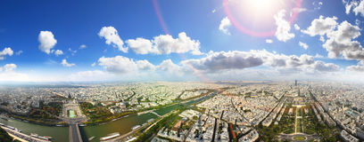 View of Paris from the Eiffel Tower Royalty Free Stock Images