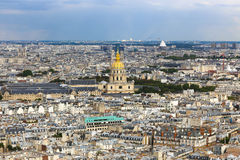 View of Paris from Eiffel tower. Stock Photography