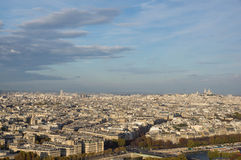 View of Paris in the evening Royalty Free Stock Photography