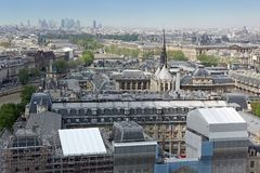 View on Paris form Notre Dame Royalty Free Stock Image