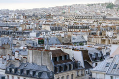 View on Paris form Pompidou Center Stock Images