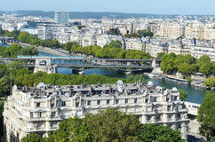 View of Paris. France, from the Eiffel tower Royalty Free Stock Images