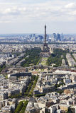 View of Paris, France from Montparnasse. Aerial view of Paris, France from Montparnasse Stock Images